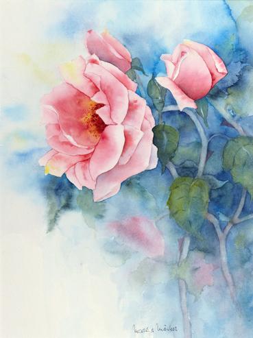 Rosa Rosen_blau_45X35